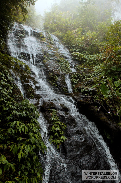 Travel from one village to the next always involved scrambling through, up or down waterfalls and streams, the trip record was 10 rivers and streams between two villages. Put that together with the sweat from the climate and you are never dry...