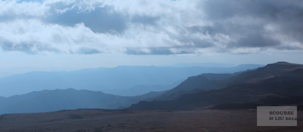 The view from the peak of Tulu Dimtu, Ethiopia's second highest point, and the highest point in the Bale Mountains.